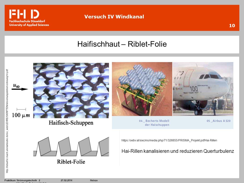 Haifischhaut – Riblet-Folie