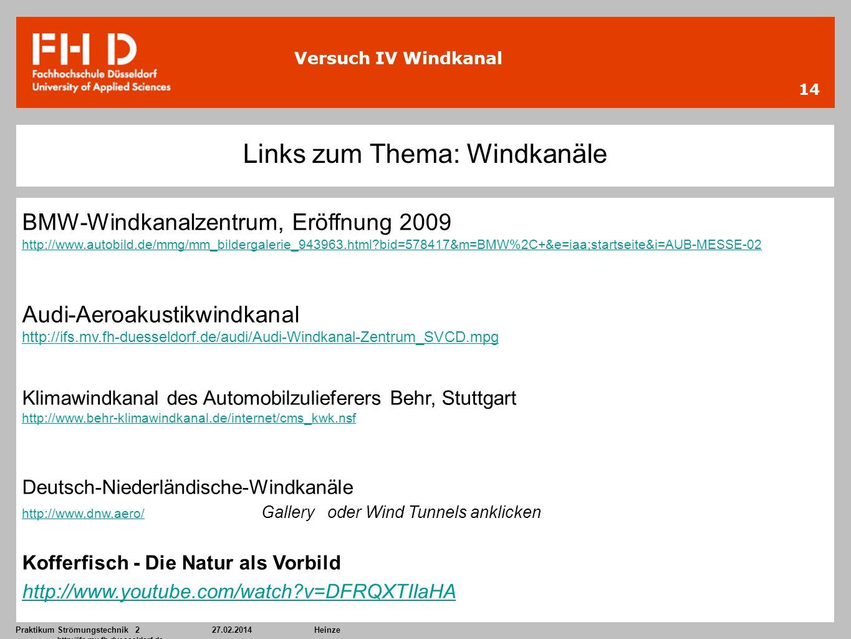 Links zum Thema: Windkanäle