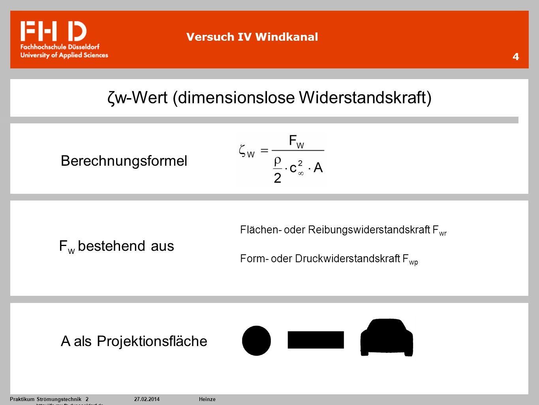 ζw-Wert (dimensionslose Widerstandskraft)