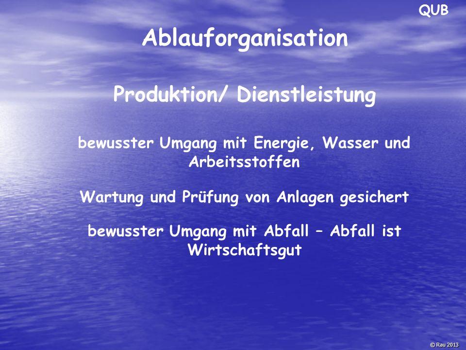 Ablauforganisation Produktion/ Dienstleistung
