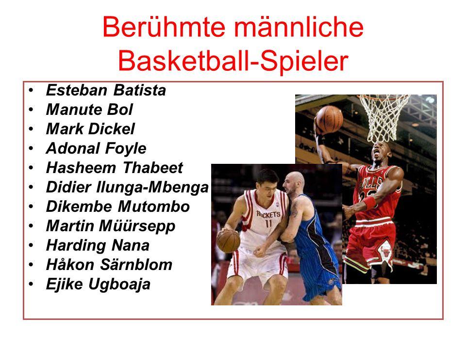 Berühmte männliche Basketball-Spieler