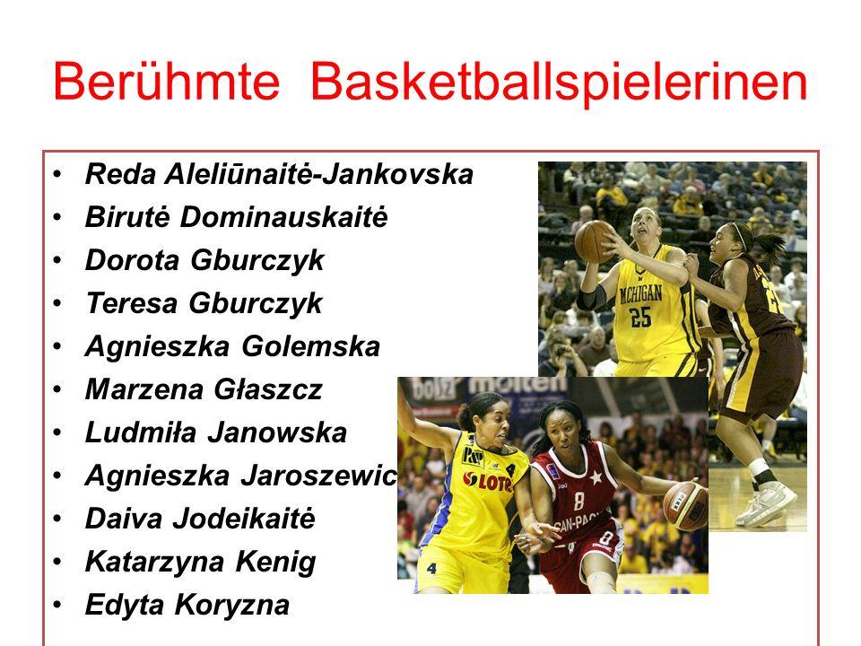 Berühmte Basketballspielerinen