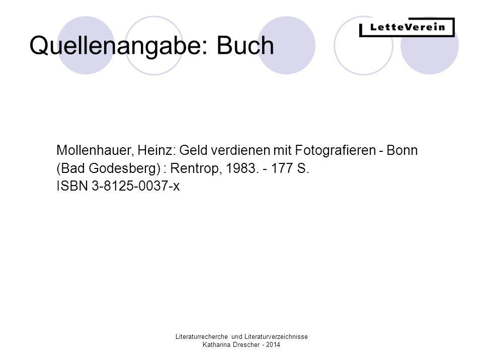 Quellenangabe: Buch Mollenhauer, Heinz: Geld verdienen mit Fotografieren - Bonn (Bad Godesberg) : Rentrop, 1983. - 177 S.