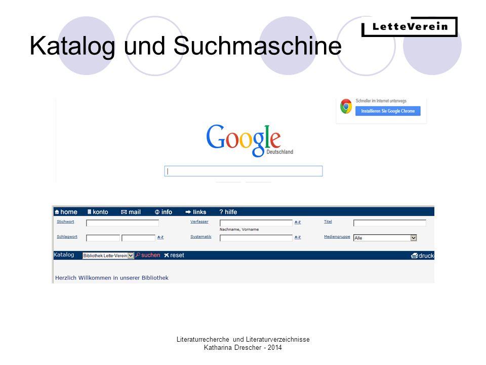 Katalog und Suchmaschine