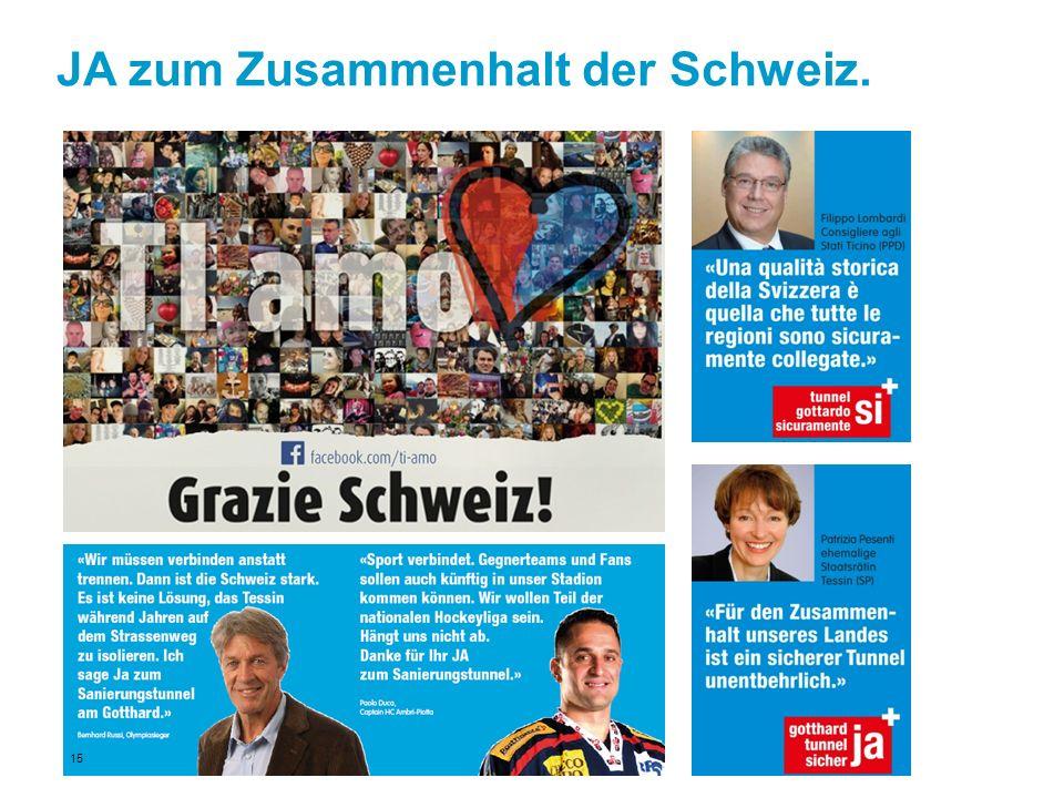 JA zum Zusammenhalt der Schweiz.