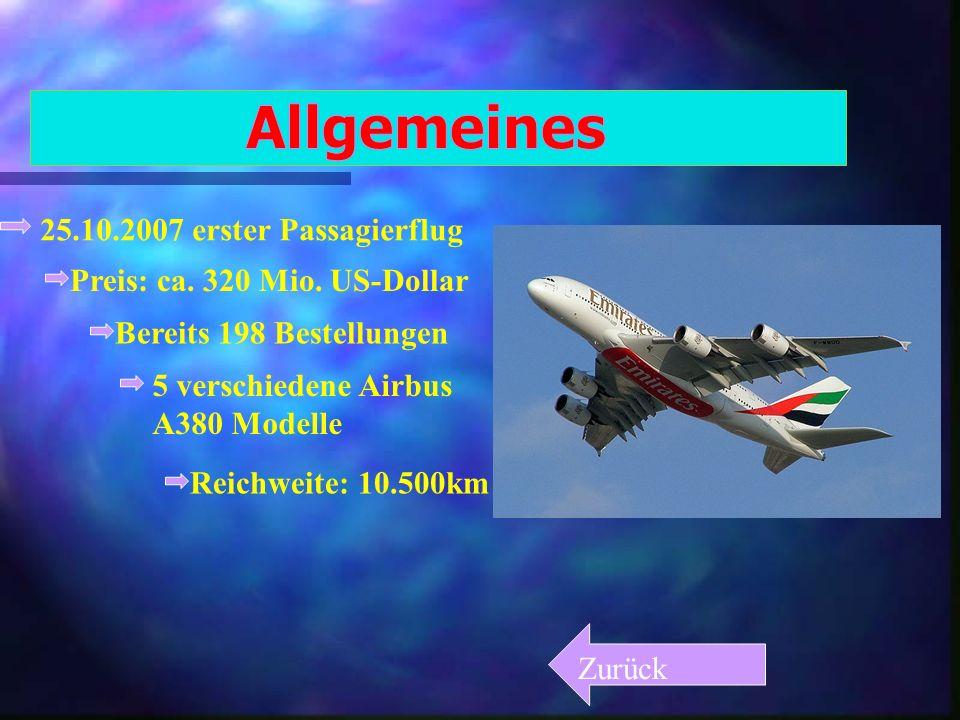 Allgemeines 25.10.2007 erster Passagierflug
