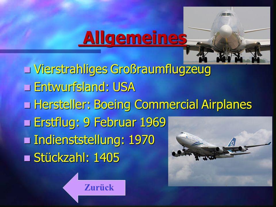 Allgemeines Vierstrahliges Großraumflugzeug Entwurfsland: USA
