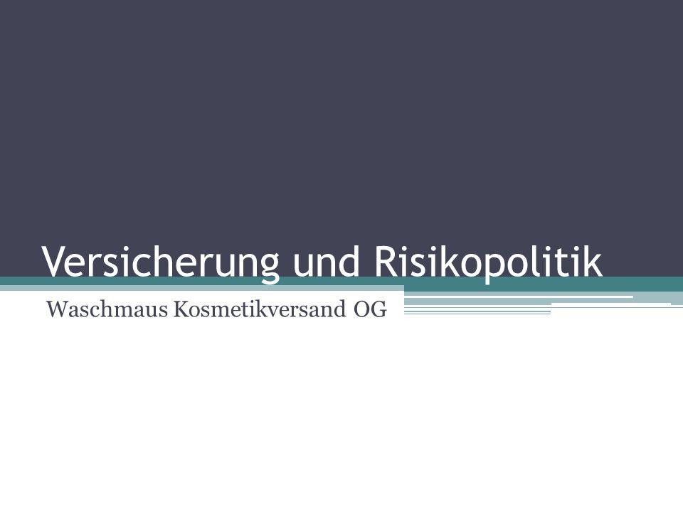 Versicherung und Risikopolitik