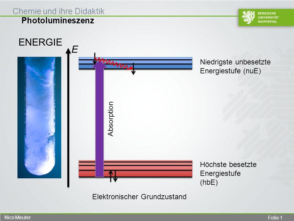 Energie E Niedrigste unbesetzte Energiestufe (nuE) Absorption