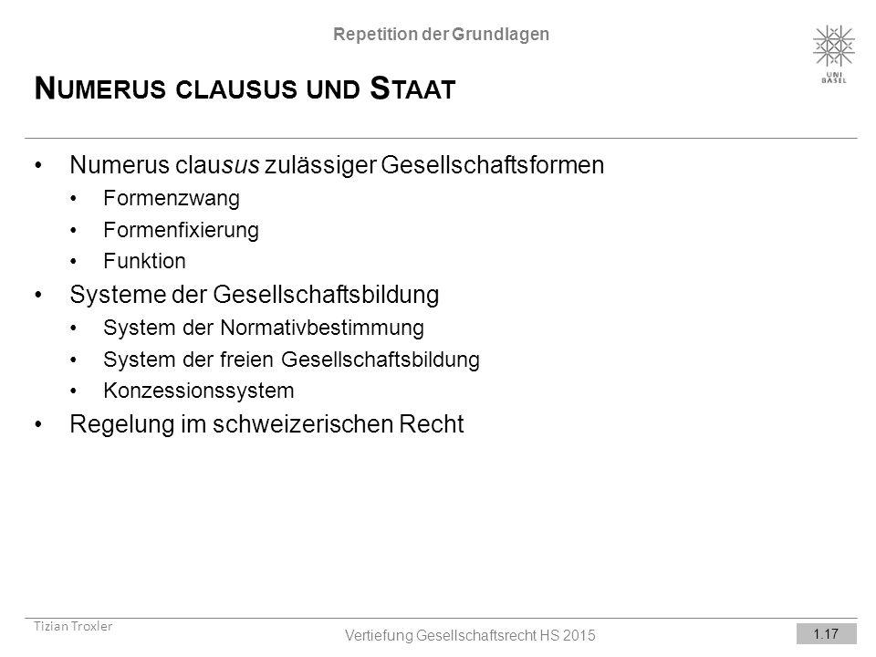Numerus clausus und Staat