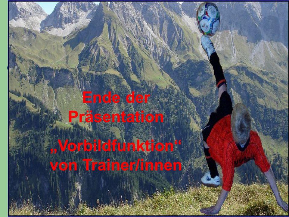 """""""Vorbildfunktion von Trainer/innen"""