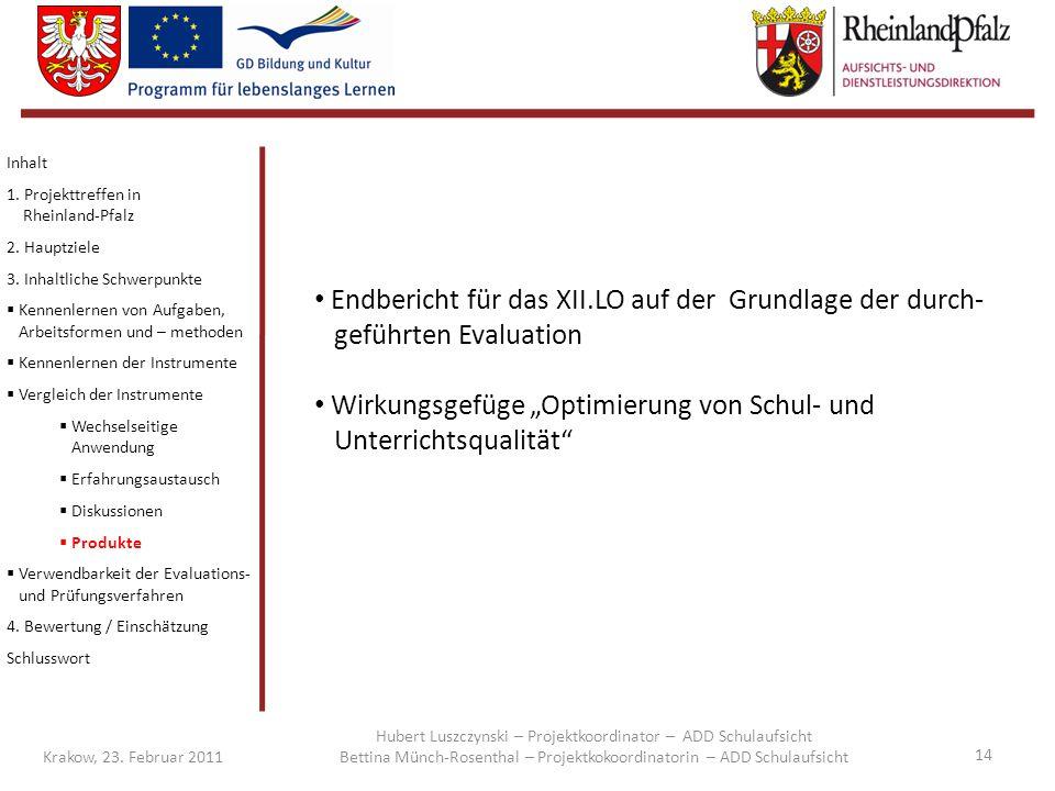 """Wirkungsgefüge """"Optimierung von Schul- und Unterrichtsqualität"""