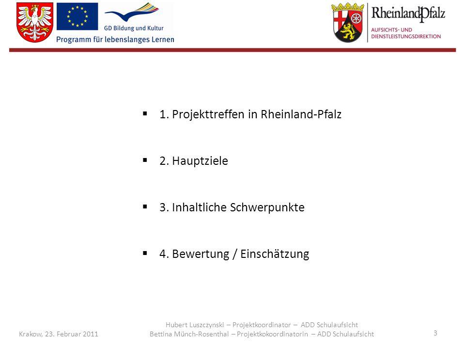 1. Projekttreffen in Rheinland-Pfalz