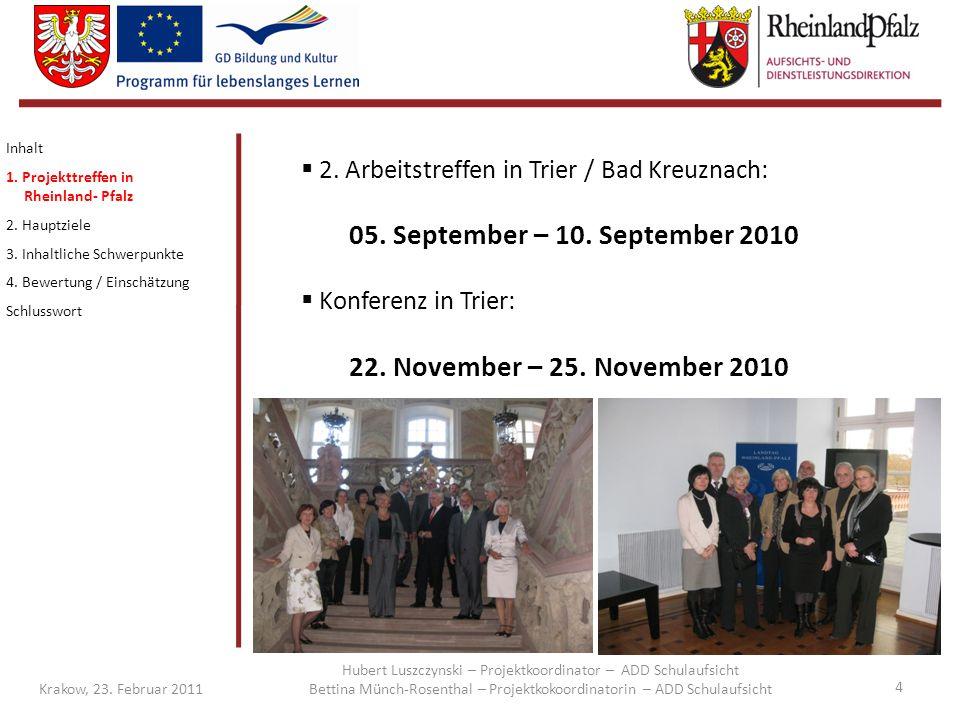 Konferenz in Trier: 22. November – 25. November 2010