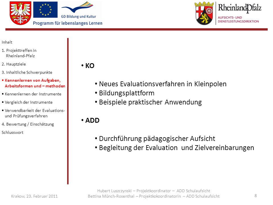 Neues Evaluationsverfahren in Kleinpolen Bildungsplattform