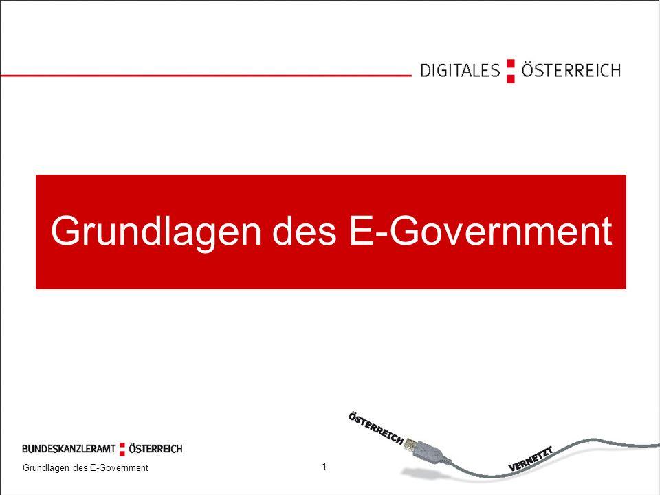 Grundlagen des E-Government