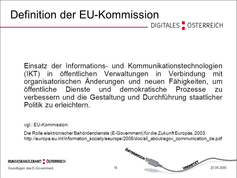 Definition der EU-Kommission