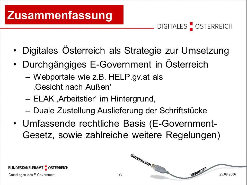 Zusammenfassung Digitales Österreich als Strategie zur Umsetzung
