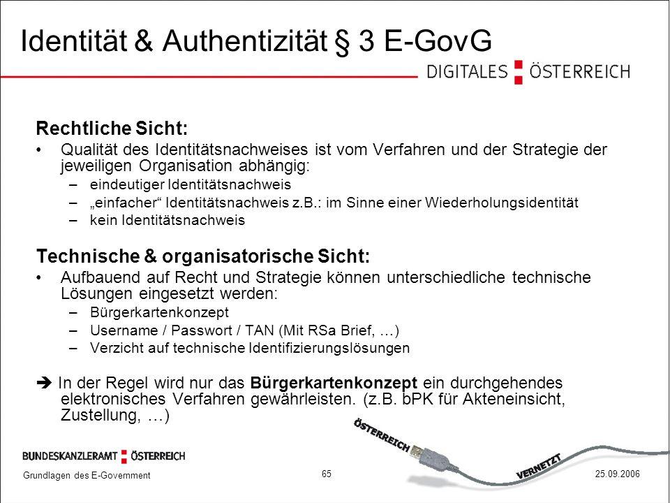 Identität & Authentizität § 3 E-GovG