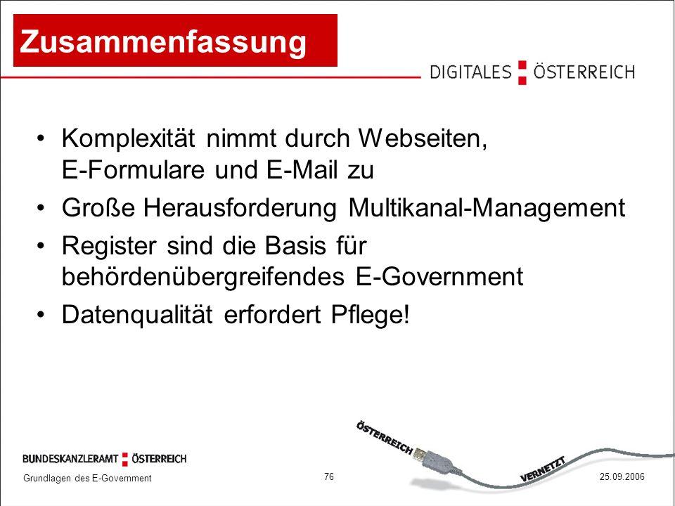 Zusammenfassung Komplexität nimmt durch Webseiten, E-Formulare und E-Mail zu. Große Herausforderung Multikanal-Management.