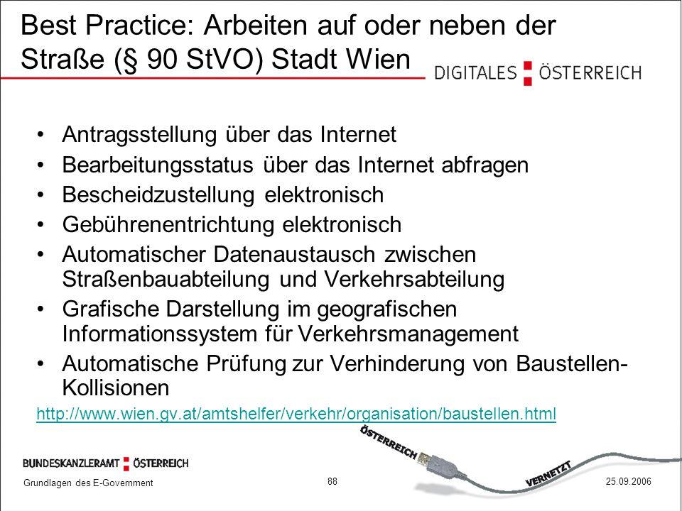 Best Practice: Arbeiten auf oder neben der Straße (§ 90 StVO) Stadt Wien