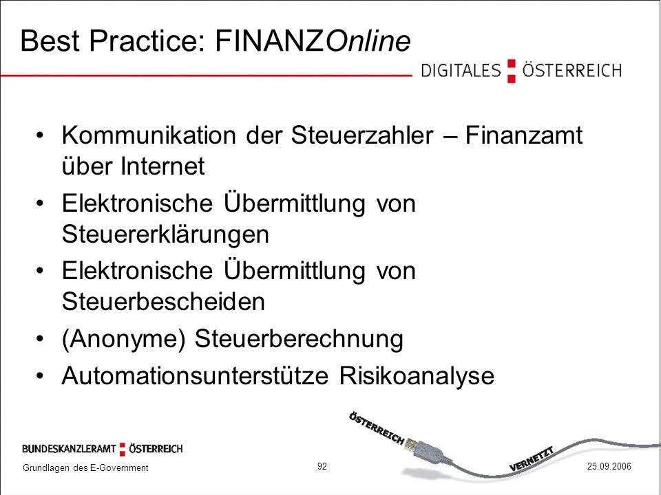 Best Practice: FINANZOnline