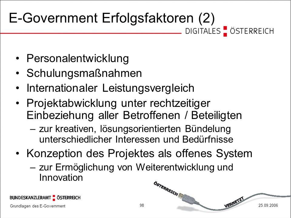 E-Government Erfolgsfaktoren (2)