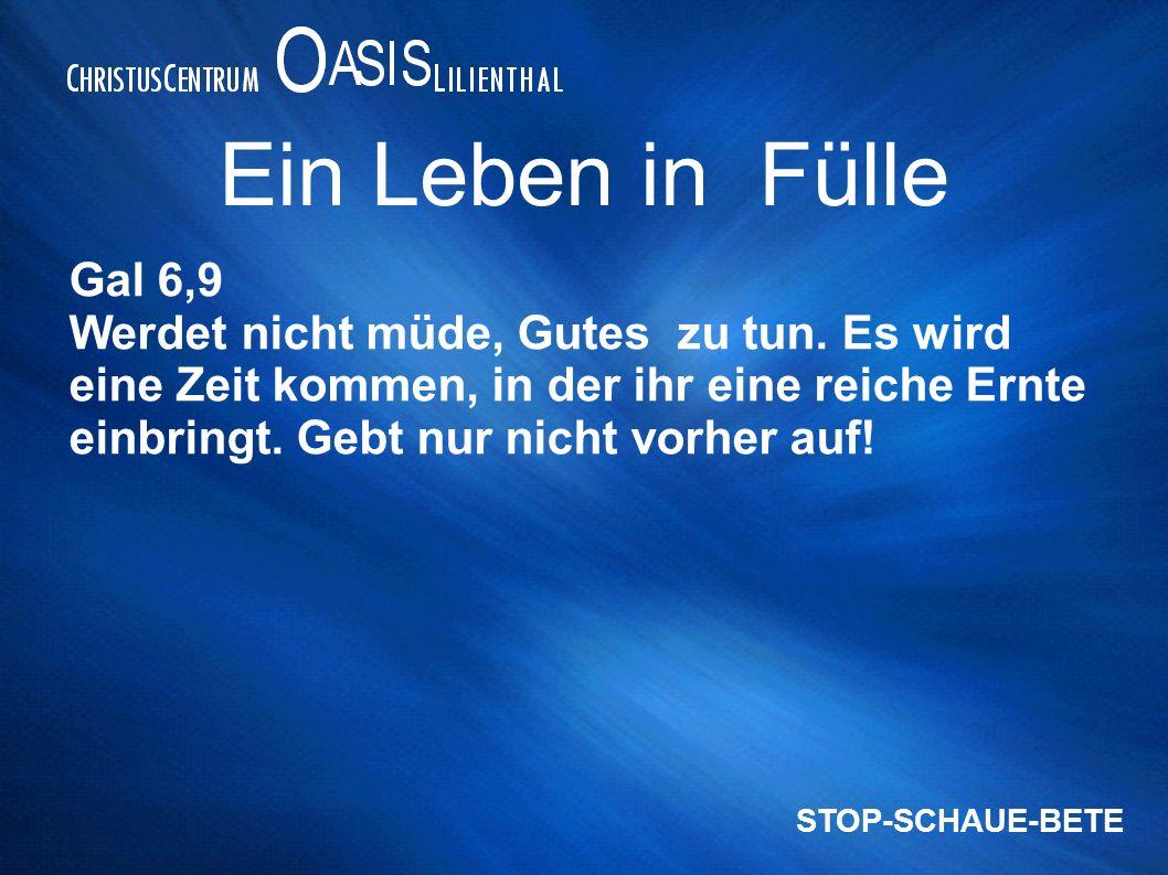 Ein Leben in Fülle Gal 6,9.