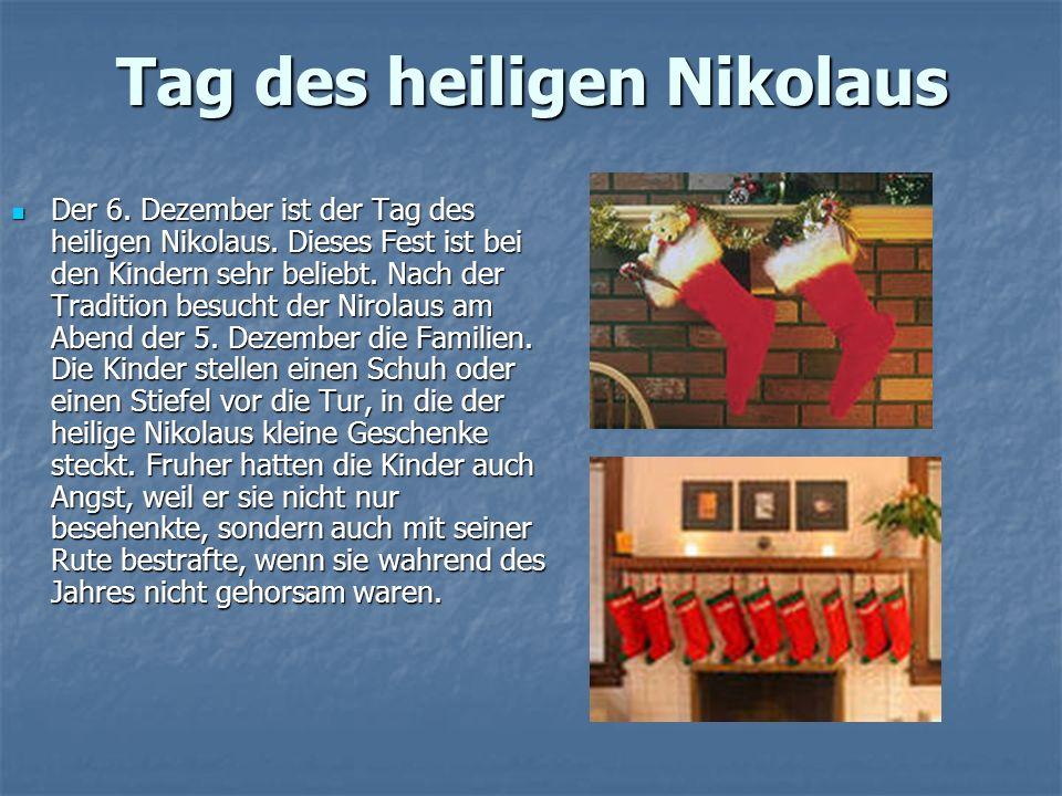 Tag des heiligen Nikolaus