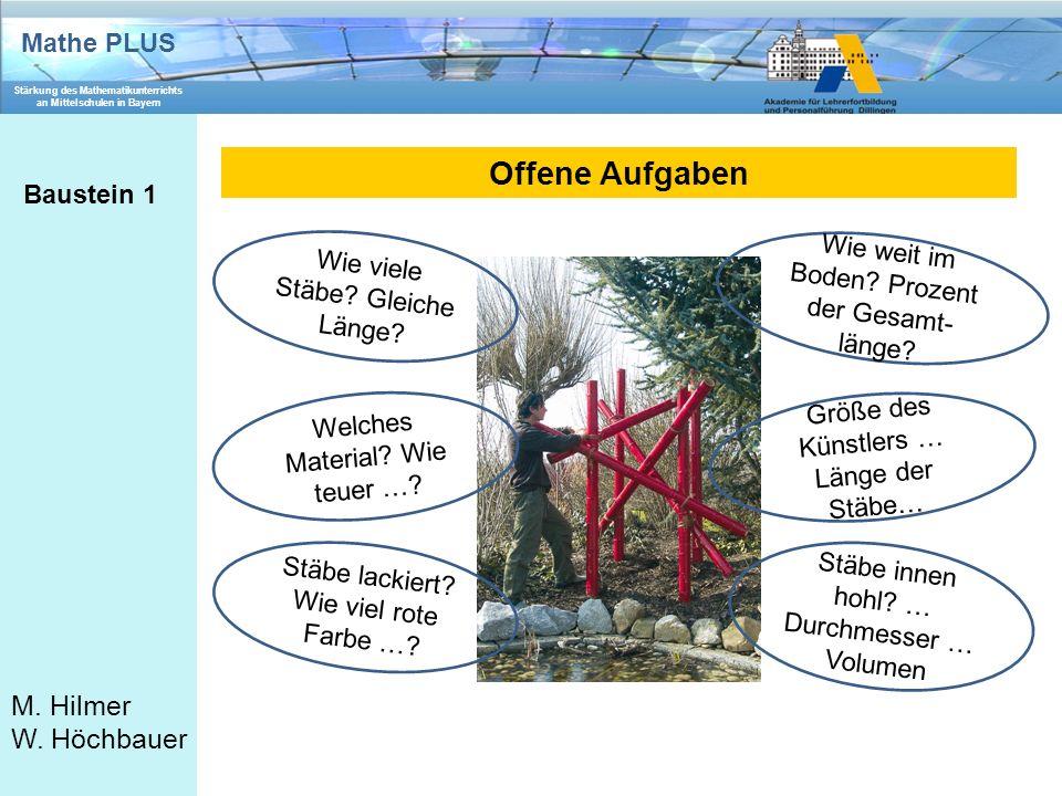 Offene Aufgaben Baustein 1
