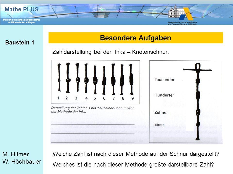 Besondere Aufgaben Baustein 1
