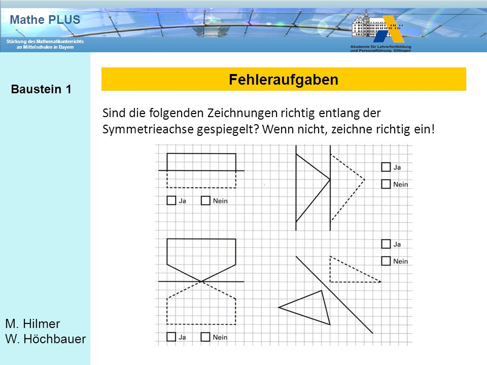 Fehleraufgaben Baustein 1.