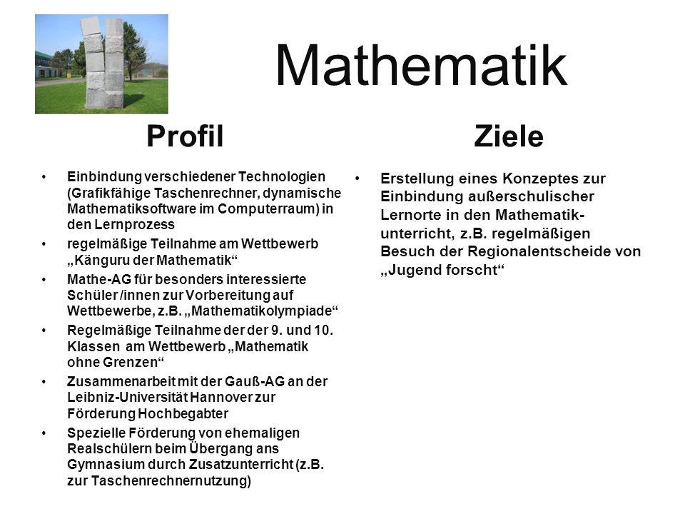 Mathematik Ziele Profil