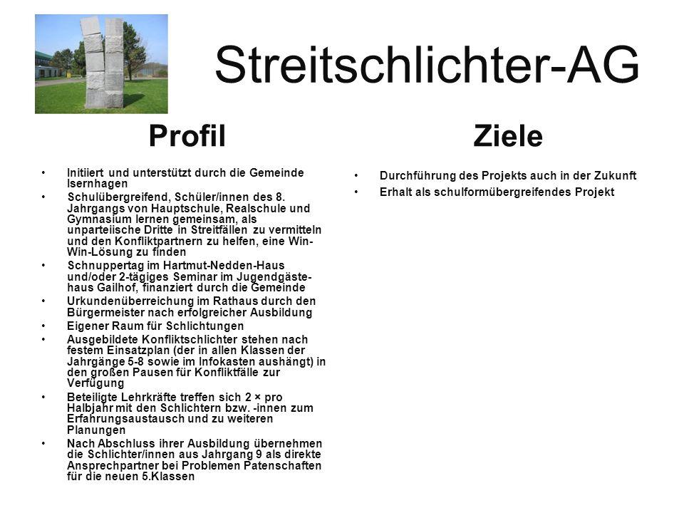 Streitschlichter-AG Ziele Profil