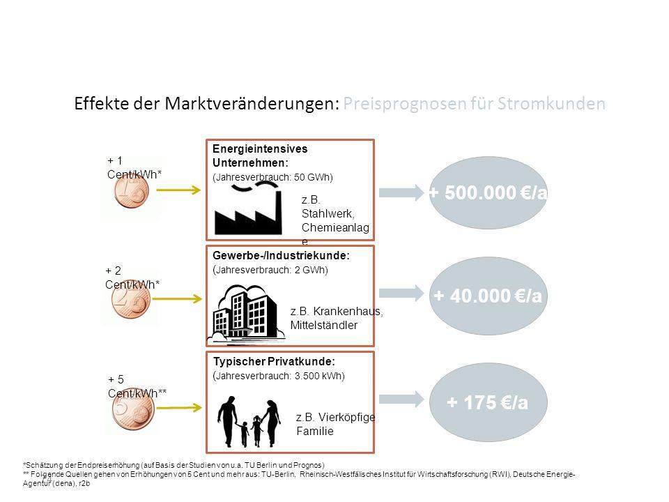 Effekte der Marktveränderungen: Preisprognosen für Stromkunden