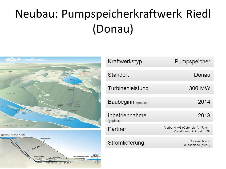Neubau: Pumpspeicherkraftwerk Riedl (Donau)