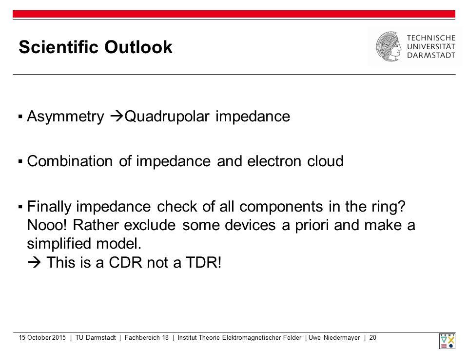 Scientific Outlook Asymmetry Quadrupolar impedance