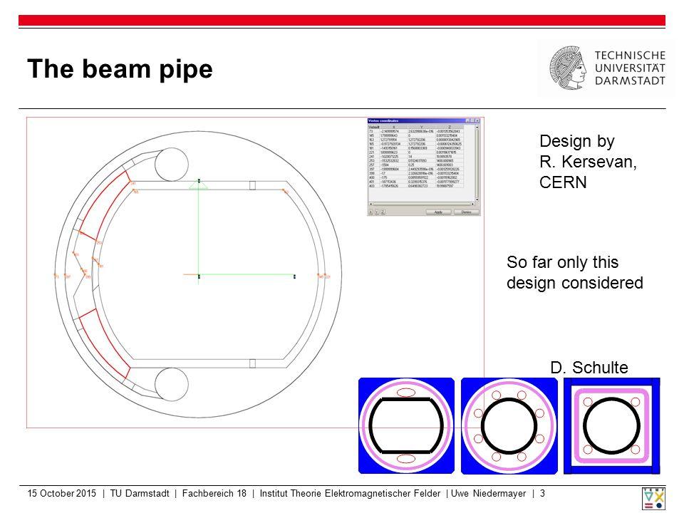 The beam pipe Design by R. Kersevan, CERN