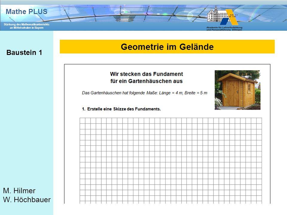 Geometrie im Gelände Baustein 1