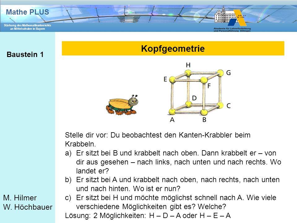 Kopfgeometrie Baustein 1