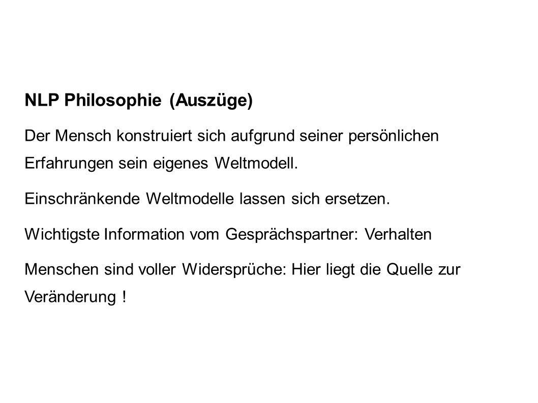 NLP Philosophie (Auszüge)