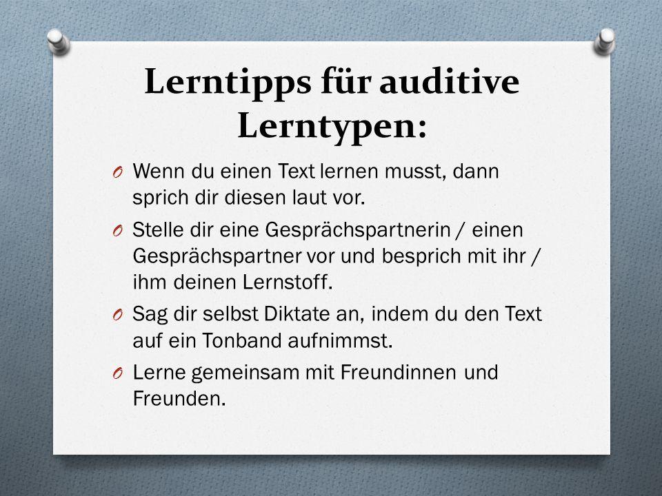 Lerntipps für auditive Lerntypen: