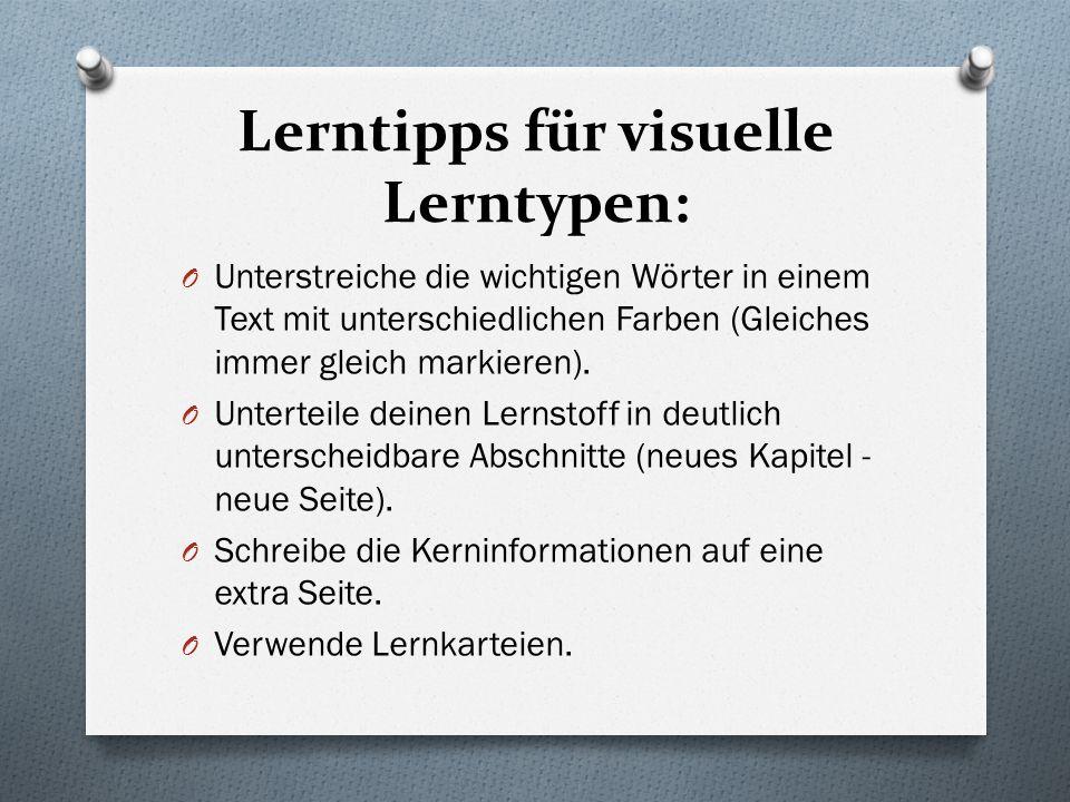 Lerntipps für visuelle Lerntypen: