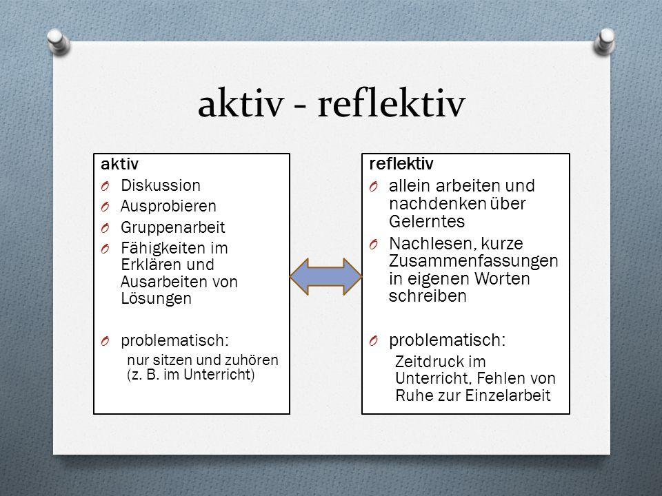 aktiv - reflektiv reflektiv
