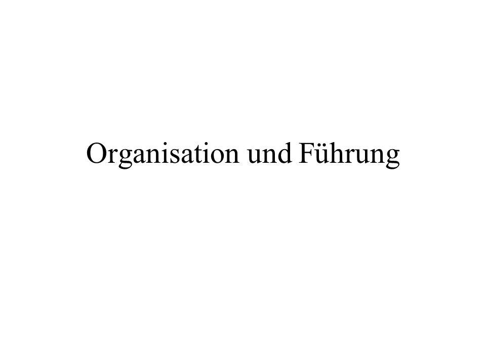 Organisation und Führung