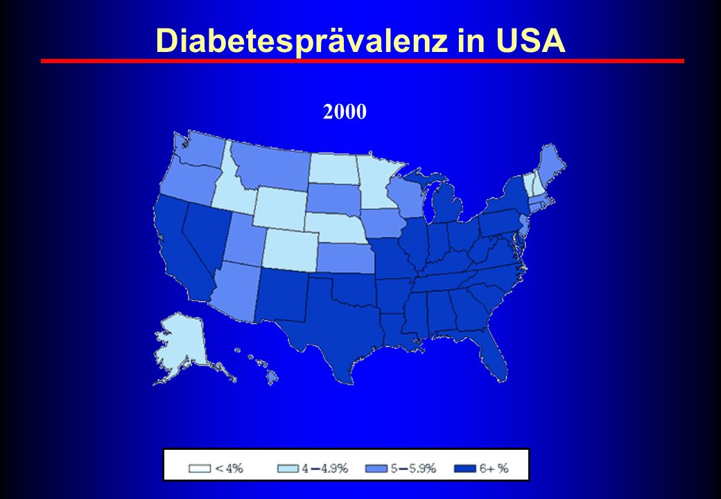 Diabetesprävalenz in USA