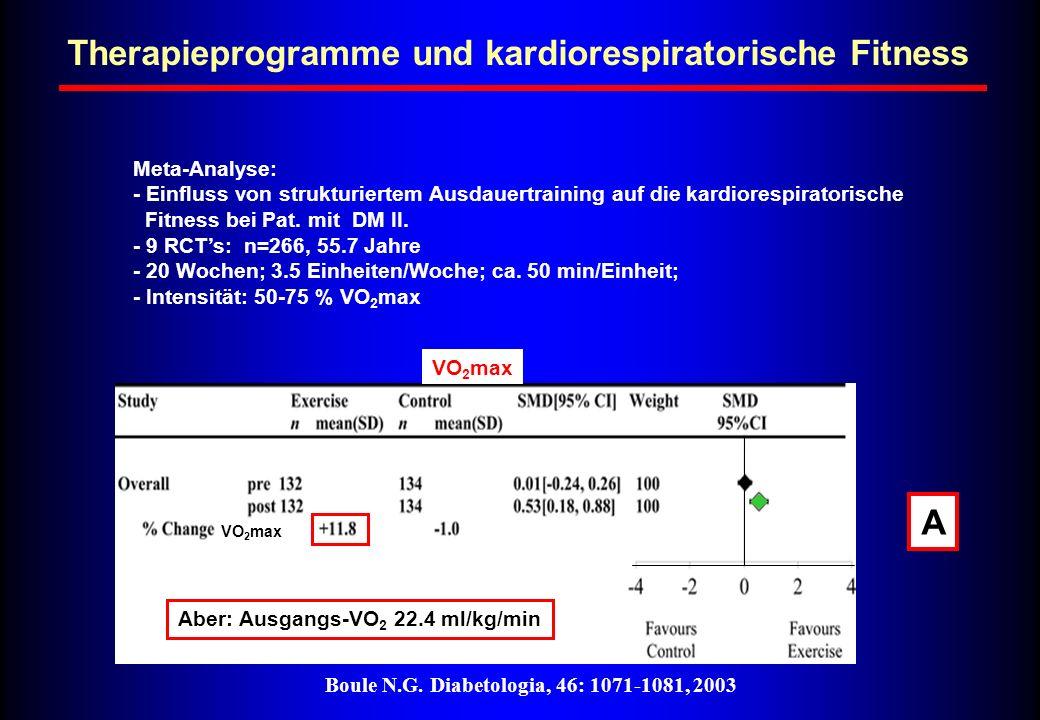 Therapieprogramme und kardiorespiratorische Fitness A