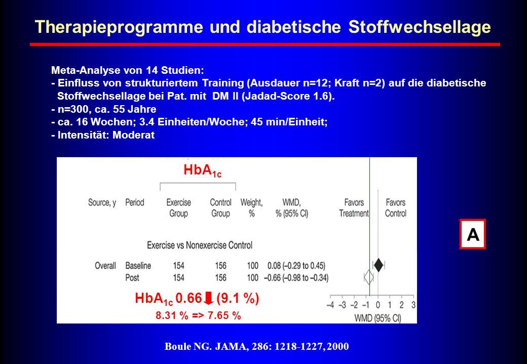 Therapieprogramme und diabetische Stoffwechsellage
