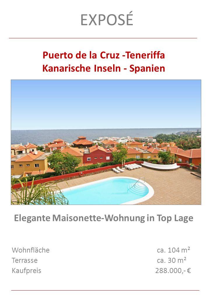 Exposé Puerto de la Cruz -Teneriffa Kanarische Inseln - Spanien