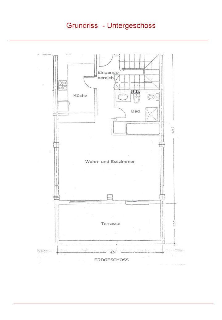 Grundriss - Untergeschoss